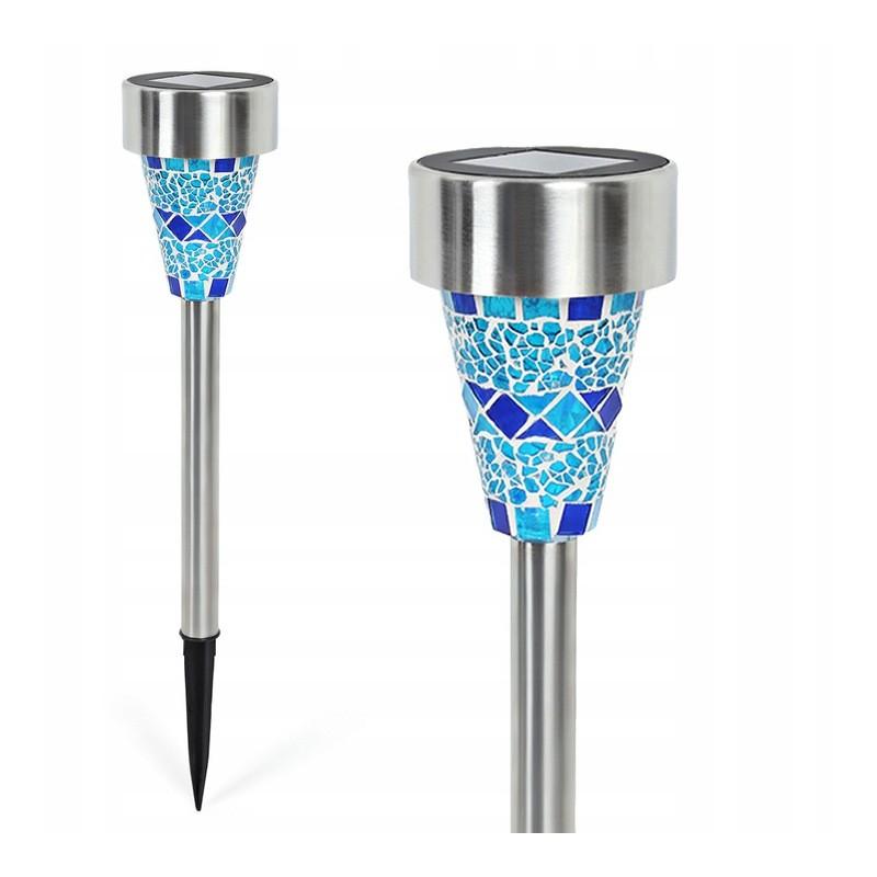 Lampa Solarna Wbijana Led J-15 Mozaika Blue Toolight