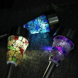 Lampa Solarna Wbijana Led J-17 Mozaika Purple Toolight