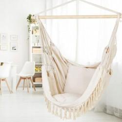Krzesło Brazylijskie Boho Wiszący Fotel + Poduszki