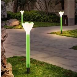 Lampa Solarna Wbijana Led J-10 Zielony Kwiatek