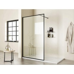 Ścianka prysznicowa Czarna Force 90x195 Calani