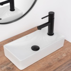 Umywalka Ceramiczna Nablatowa/Wpuszczana Jasper Biała