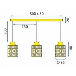 Lampa Wisząca APP725-3CP Toolight