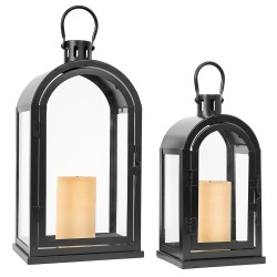 Lampiony czarne zestaw 2 sztuk