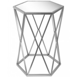 Stolik Srebrny Glamour