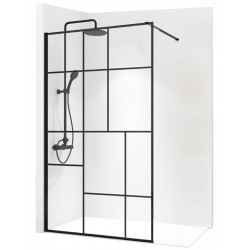 Ścianka Prysznicowa Czarna...