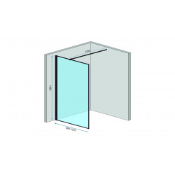 Ścianka Prysznicowa Czarna Rea Bler 110 cm
