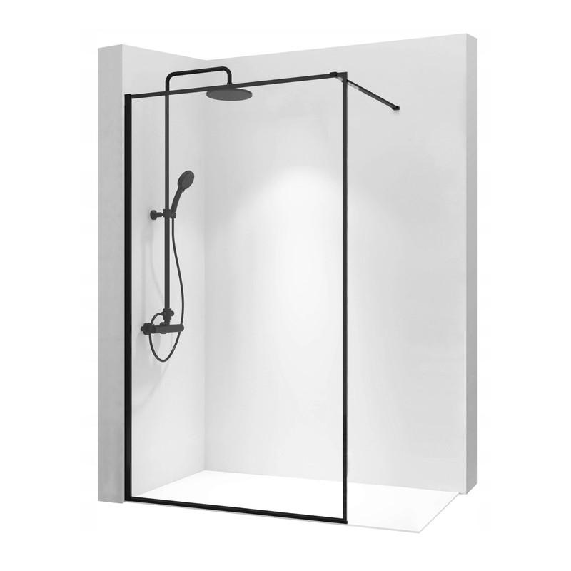 Ścianka Prysznicowa Czarna Rea Bler 120 cm