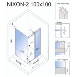 Kabina prysznicowa Rea Nixon 80x130 CM