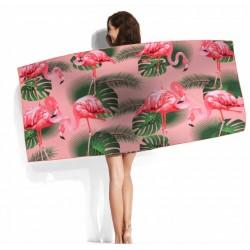 Ręcznik plażowy Flamingi...