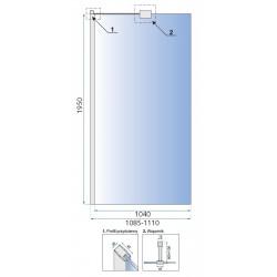 Ścianka Prysznicowa Aero 80 Rea