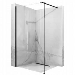 Ścianka prysznicowa Aero Czarna 120 cm Rea