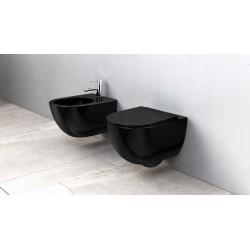 Misa WC podwieszana Carlo Mini Flat Rimless Black Rea