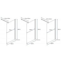Ścianka Prysznicowa 80 cm Flexi Rea