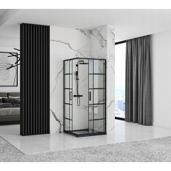 Kabina prysznicowa 80x100 Concept Czarna Rama