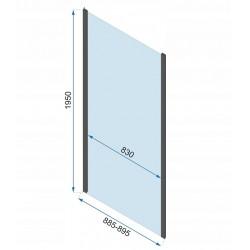 Kabina Prysznicowa Przyścienna Czarna Rapid Fold 90x80 cm