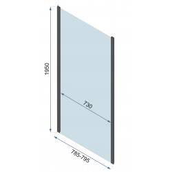 Kabina Prysznicowa Czarna Rapid Fold 80x90 cm