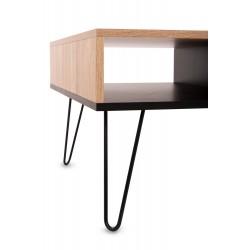 Stolik Kawowy z Półkami Konsola Drewno Sanoma 90 cm