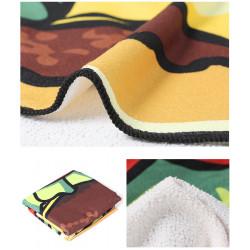 Duży ręcznik plażowy szybkoschnący 150 hamburger
