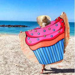 Duży ręcznik plażowy szybkoschnący 150 muffin