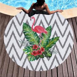 Duży ręcznik plażowy szybkoschnący 150 flaming