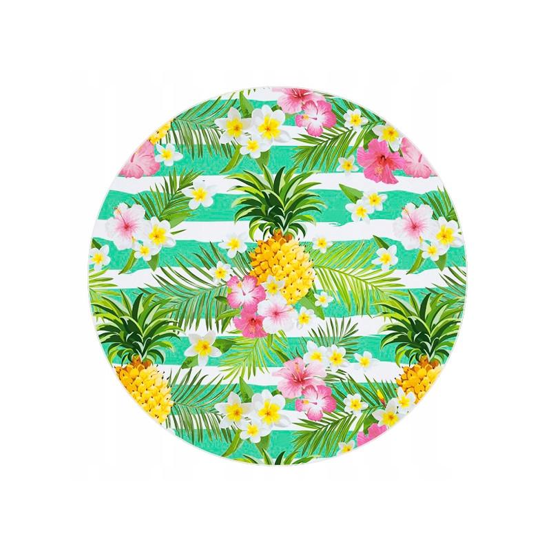 Duży ręcznik plażowy szybkoschnący 150 ananas