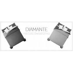 Narzuta dwustronna pikowana Diamante 200x220 black/white