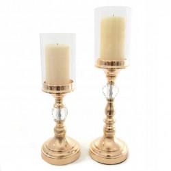 Szklany elegancki świecznik...