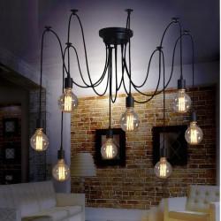 Lampa sufitowa wisząca pająk żyrandol 8x e27 LED