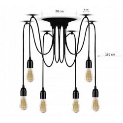 Lampa sufitowa wisząca pająk żyrandol 6x e27 LED