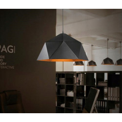 Lampa sufitowa wisząca misa loft tacoma e27 gold