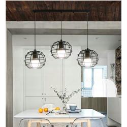 Lampa sufitowa wisząca potrójna loft odessa e27