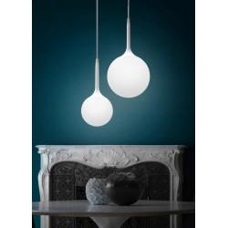 Lampa sufitowa wisząca żyrandol kula cary 15 szkło