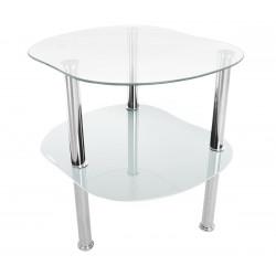 Mały stolik kawowy szklany...