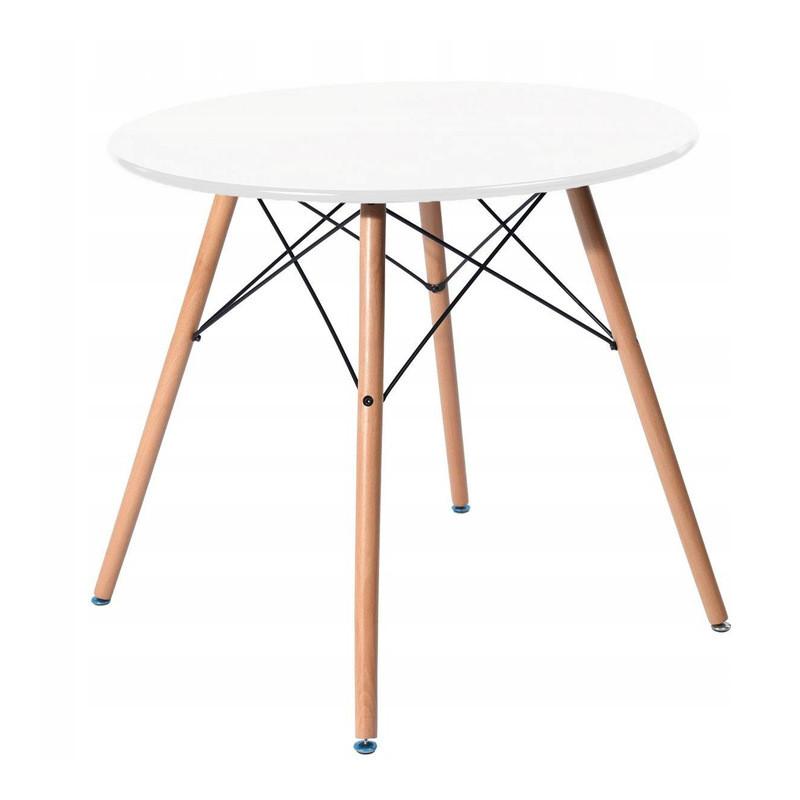 Stół Stolik Okrągły Do Kuchni Salonu 60cm Biały