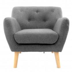 Duży Fotel Krzesło 1 Osobowa Vida Skandynawski Grey