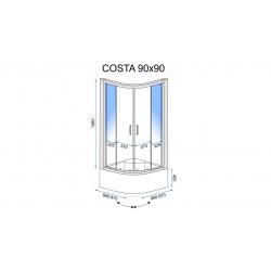 Kabina prysznicowa Costa 90x90