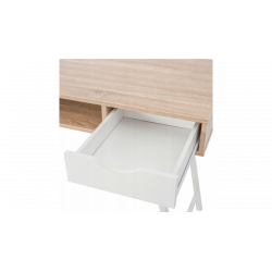 Biurko skandynawskie loft białe szuflady