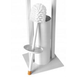 Stojak metalowy na papier bambus/biały