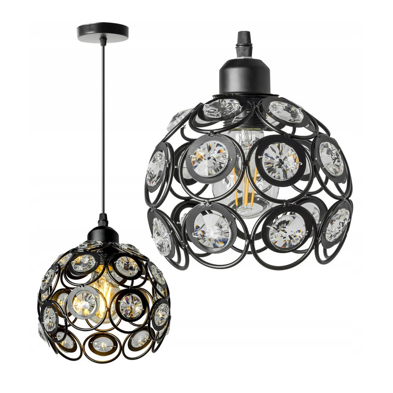 Lampa wisząca kula kryształ APP206