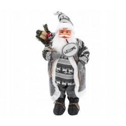 """Święty Mikołaj szary """"welcome"""""""