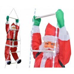 Święty Mikołaj na drabinie LED